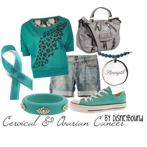 cervical and ovarian cancer: Fashion, Ovarian Cancer, Cancer Suck, Cancer Awareness, Outfit, Cervical Cancer, Disneybound, Disney Bound, Cancer Survivor
