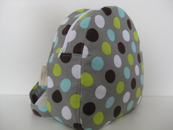 'I heart #littlefawndesigns'  Lots of Dots Toddler Backpack by LittleFawnDesigns on Etsy, $35.00