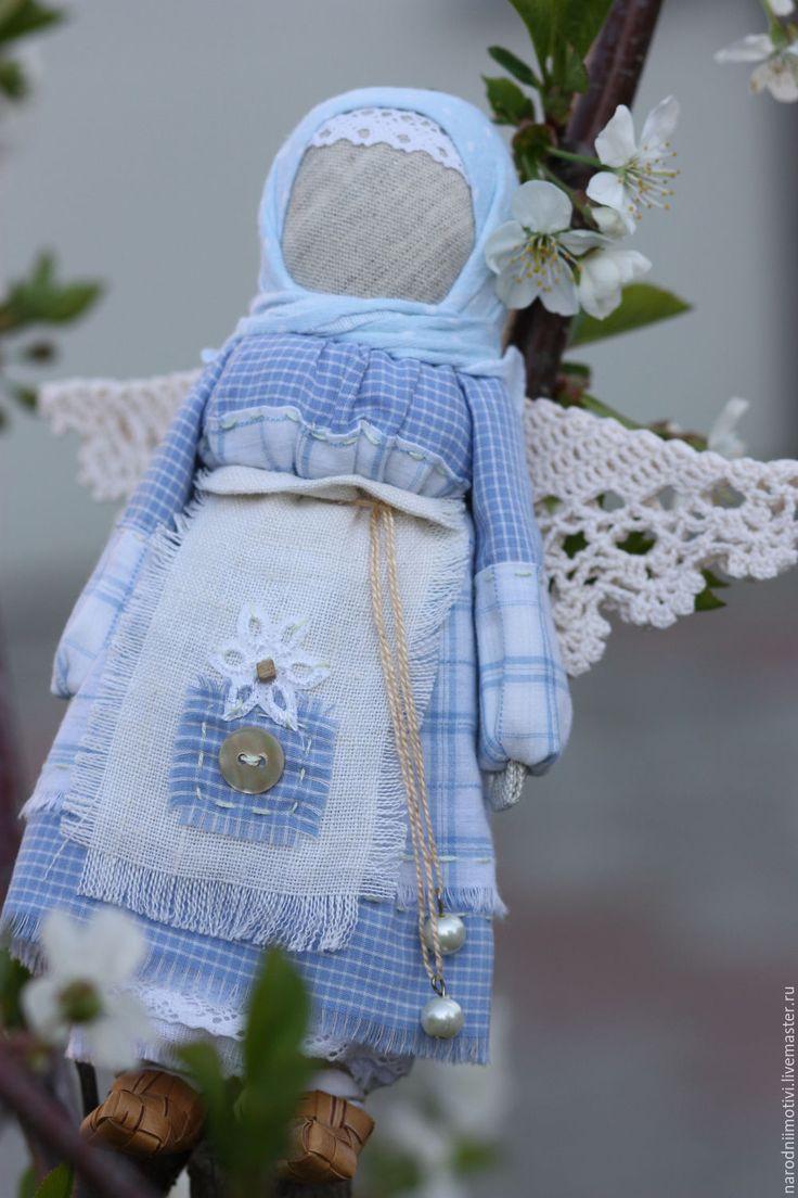 Купить Ангел-хранитель народный оберег( голубой, зеленый, белый) - голубой, ангел-хранитель