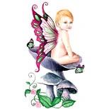 Fairy baby tattoo design