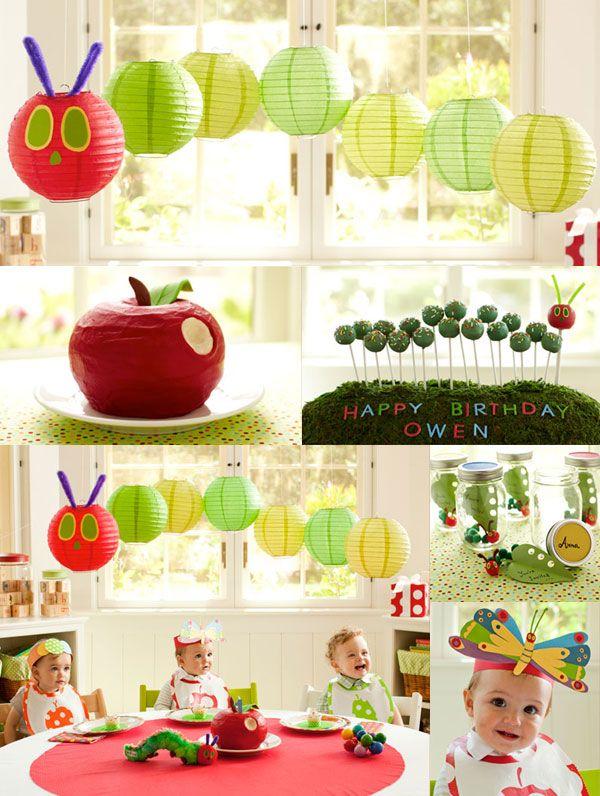 caterpillar birthday party - so cute!Caterpillar Parties, Hungry Caterpillar Birthday, Birthday Theme, Birthday Parties, 1St Birthday, Caterpillar Theme, Parties Ideas, Caterpillar Bday, Birthday Ideas