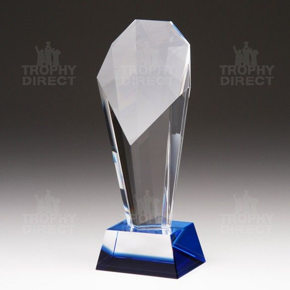 Superior crystal trophies personalised for any event or occasion. Complete with satin lined presentation box.