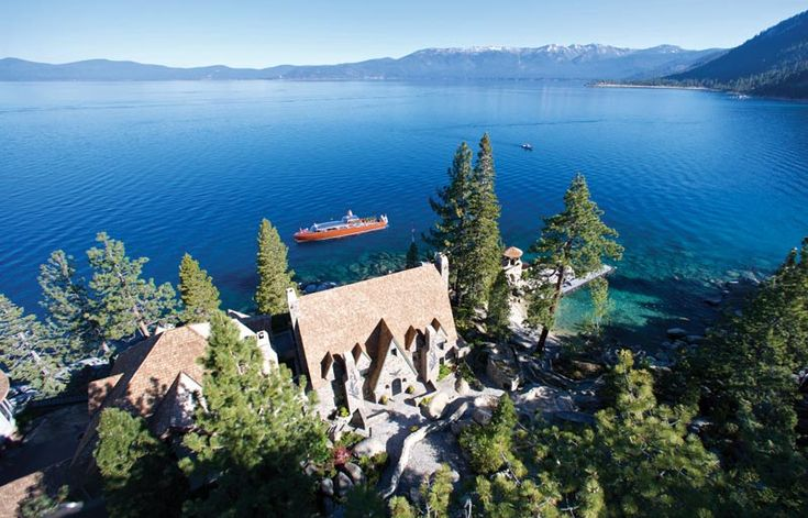 The Thunderbird Lodge is one of the last and best examples of a great residential estate on Lake Tahoe from the period in which prominent San Francisco society built homes on the lake. In addition to the main house, there is a Card House, Caretaker's Cottage, the Cook/Butler's House, an elephant barn, the Admiral's House, the Boathouse with adjoining 600' tunnel, and Gatehouse.