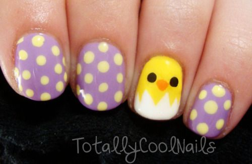 Easter Chick Nails
