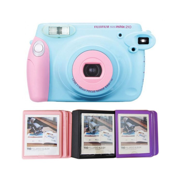Camera Wide 210s by Fujifilm. Classy design instax camera with close-up lens for shots up to 45 cm from the subject. This cute pastel wide instax,  lighten-Darken Control adjusts the intensity of colors, and it has a flash, now you can capture every special moment. http://www.zocko.com/z/JI9rn