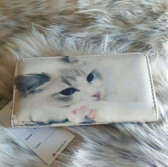 Cute Kitty Wallet Brand new. Printed on both sides. Bags Wallets