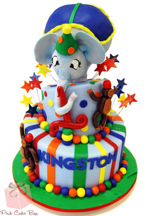 Circus Themed Elephant Cake by Pink Cake Box in Denville, NJ. More photos at http://blog.pinkcakebox.com/circus-themed-elephant-cake-2010-09-14.htm #cakes