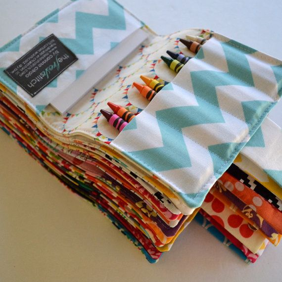 Crayon Wallets . Birthday Party Favors . Set of 15 . 8 Crayons and Notepad Included . Art Party on Etsy, $195.00