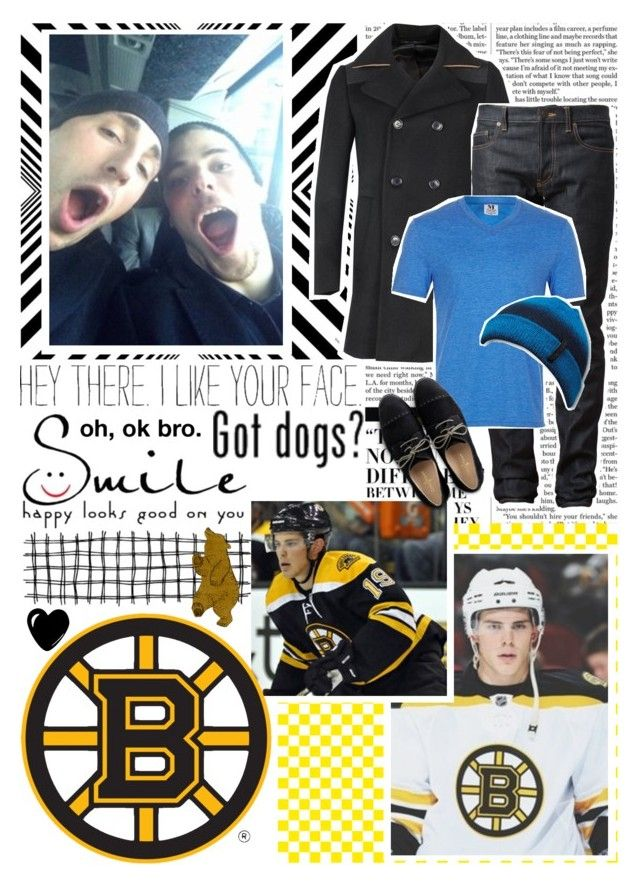 """04. Boston Bruins/Tyler Seguin"" by allyre30 ❤ liked on Polyvore featuring Nicki Minaj, Hollywould, PS Paul Smith, Yves Saint Laurent, Topman, Quiksilver and Cole Haan"