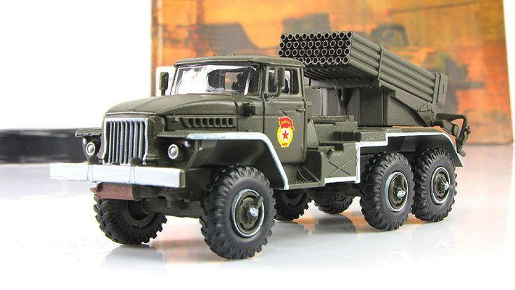 "1:72 BM 21 ""Grad"" Soviet truck-mounted multiple rocket launcher Russian Tanks #GeFabbri"