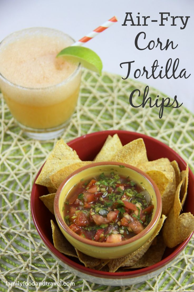 Looking for the perfect low-fat snack? Now you can make your own restaurant style corn tortilla chips recipe with this AirFry Corn Tortilla Chips Recipe.