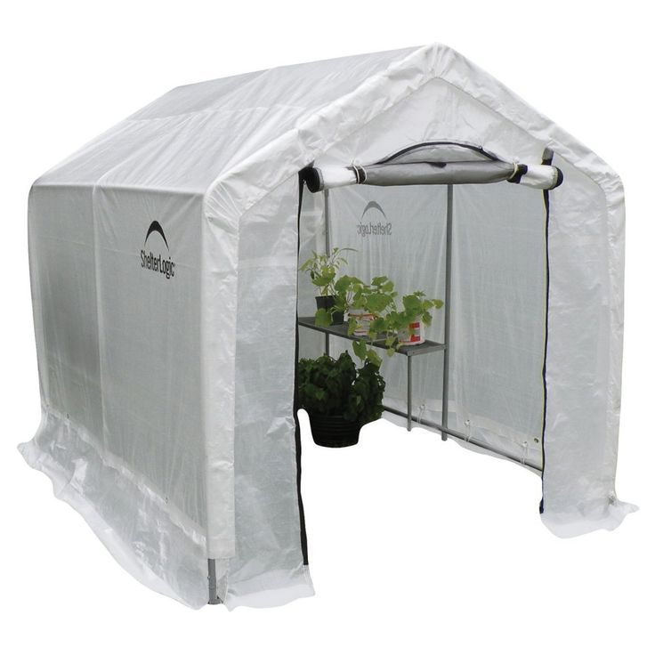Peak Backyard Greenhouse with Integrated Shelving -$147