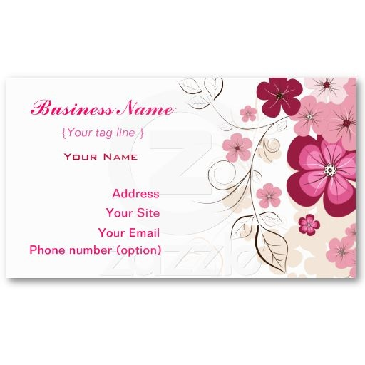 floral business card template business cards pinterest