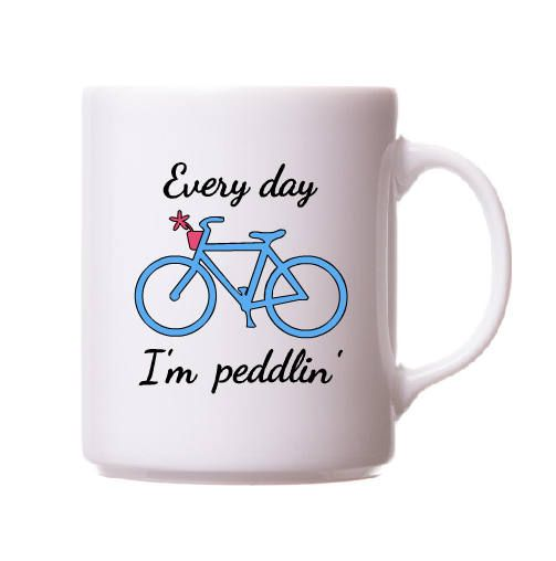 Bicycle decal every day im peddlin decal bike car decal