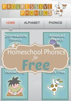 Free Homeschool Phonics Program: Progressive Phonics | How To Homeschool For FREE