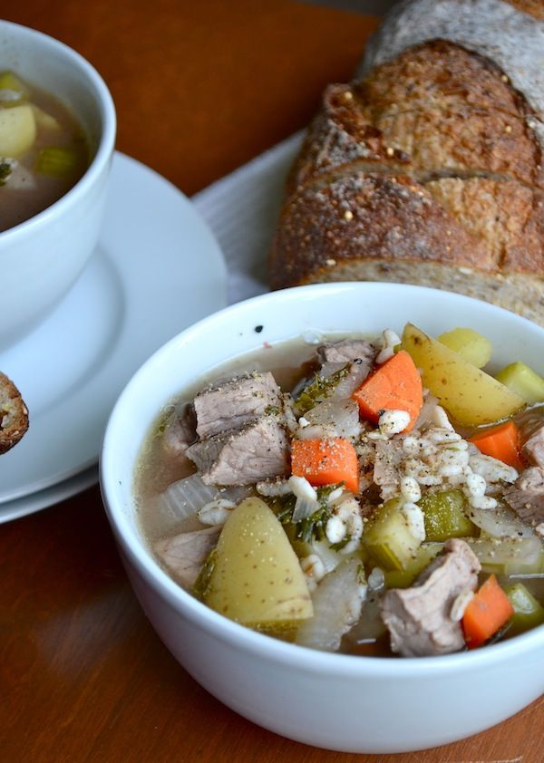 Apple Cider Beef & Barley Crock Pot Stew from Rachel Schultz