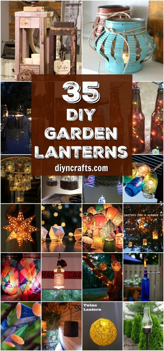 35 Luminous Garden Lantern Ideas To Brighten Up Your Outdoors - With tutorials, Collection Curated by DIYnCrafts.com Team <3 via @vanessacrafting