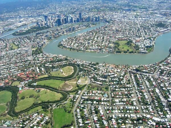 Brisbane Australia from above
