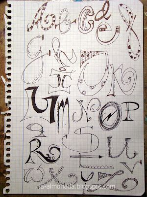 Doodle letters, these are adorable!