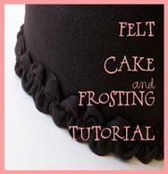 Felt Cake & Frosting Tutorial. This would be perfect for parents who want to make a pretend cake for a tube-fed child or a child on a very restricted diet.
