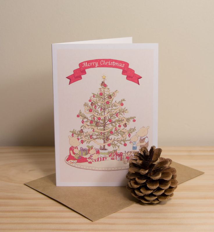 Merry Christmas - Twee & co greeting card by Chelsa Sinclair