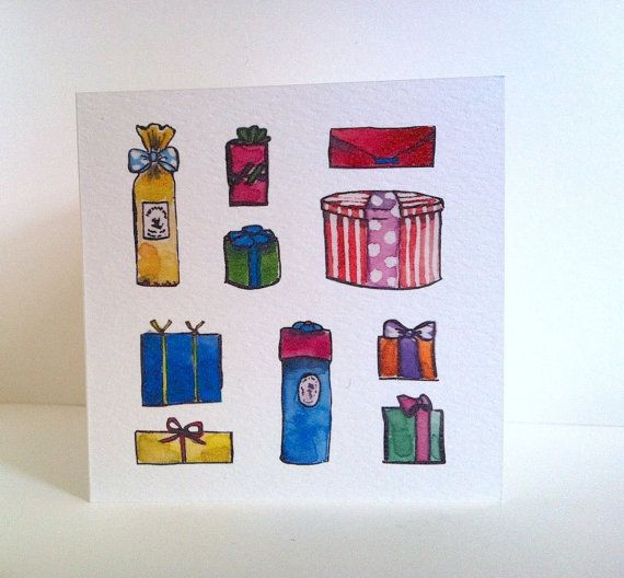 Christmas Card by PebbleandBee on Etsy: https://www.etsy.com/listing/169876453/christmas-ten-presents-card-from?ref=shop_home_active_1