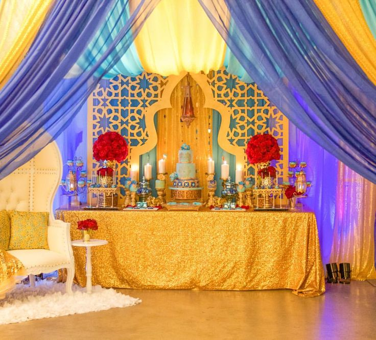 562 best alladin baby shower images on pinterest arabian for Baby shower function decoration