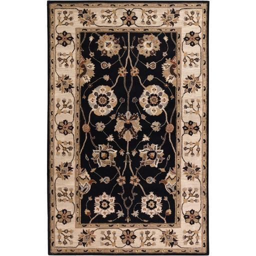 Caesar CAE-1033 Black Damask Rug  #rugs #decor #homedecor #classy #trendy #homeideas #myhome #dreamhome #diy #instahome