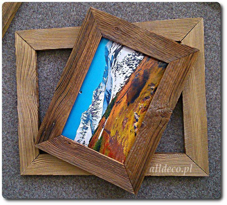 Cadre en vieux bois,rama ze starego drewna