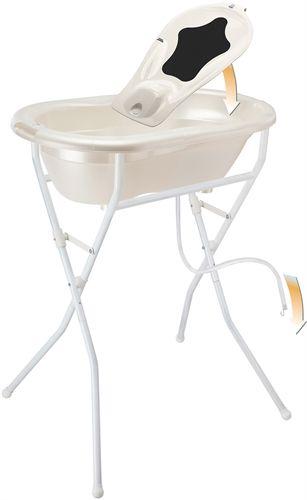 Badekar med babysæde, stativ og afløbsslange (1100,-) http://lekmer.dk/barn-og-baby/helbred-o-pleje/badebaljer-o-badestotte/rotho-badsæt-top-3-dele-hvid?utm_source=Pricerunner.dk