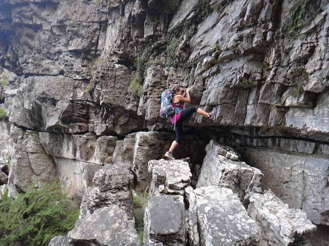 Climbing up Table Mountain, Cape Town