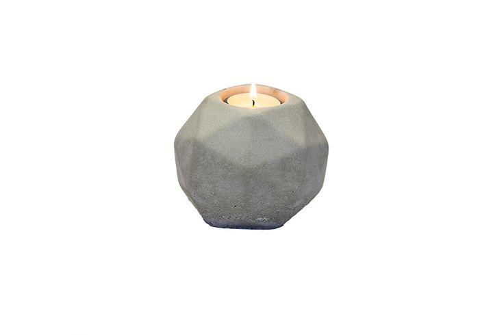 Świecznik POLY z betonu