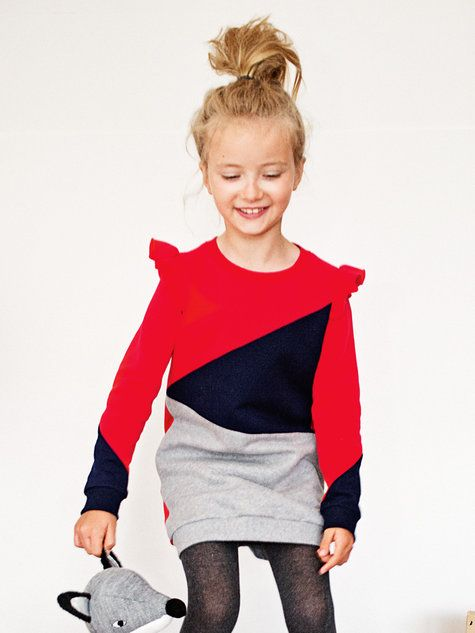 Sweatshirt Tunic Dress 10/2013 girls dress pattern