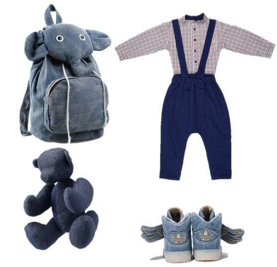 Lapin Denim trousers & Village shirt by #graindechic, bear #muji, sneakers #jeremyscott #adidas #denim #jeans