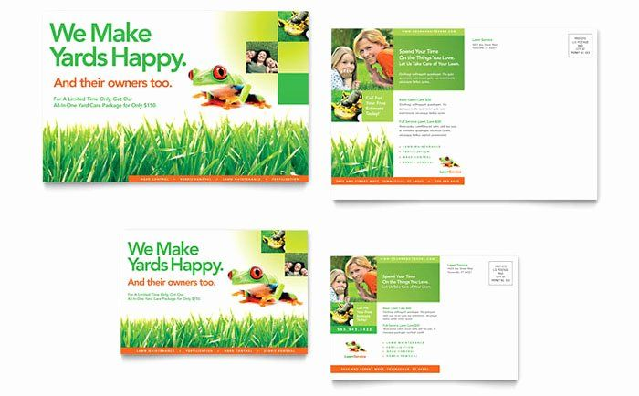 Microsoft Word Postcard Template Inspirational Lawn Maintenance Postcard Template Design Postcard Template Postcard Template Free Business Postcards