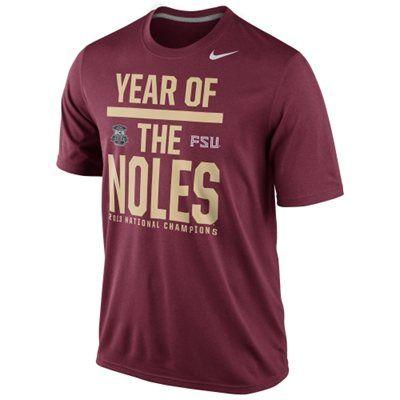 Nike Florida State Seminoles (FSU) 2013 BCS National Champions Celebration Year of the Noles T-Shirt - Garnet