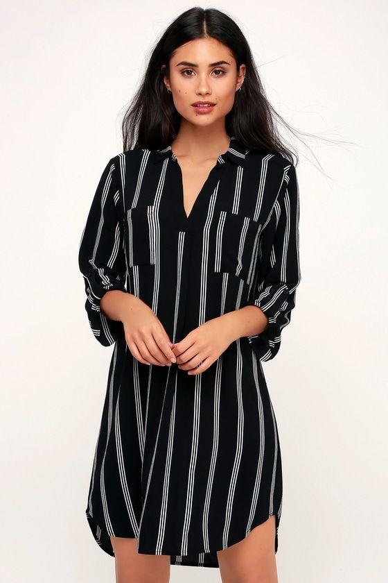 Pint striped robe