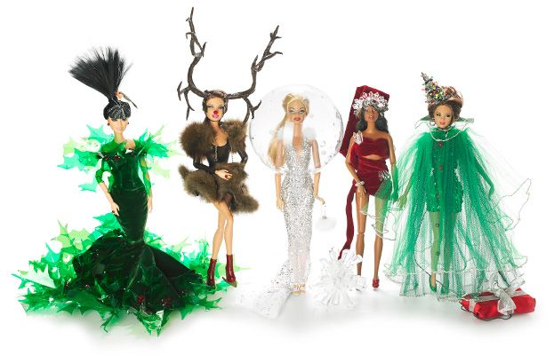Barbie has undergone a holiday makeover, thanks to famed milliner Stephen Jones. As the latest designer to take on Barbie, Jones has created head-to-toe couture looks for the doll, which will be sold exclusively at Selfridges in London.