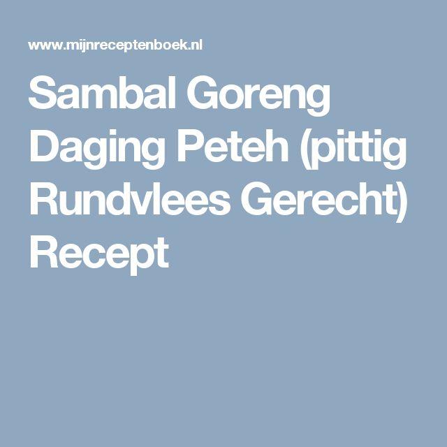Sambal Goreng Daging Peteh (pittig Rundvlees Gerecht) Recept
