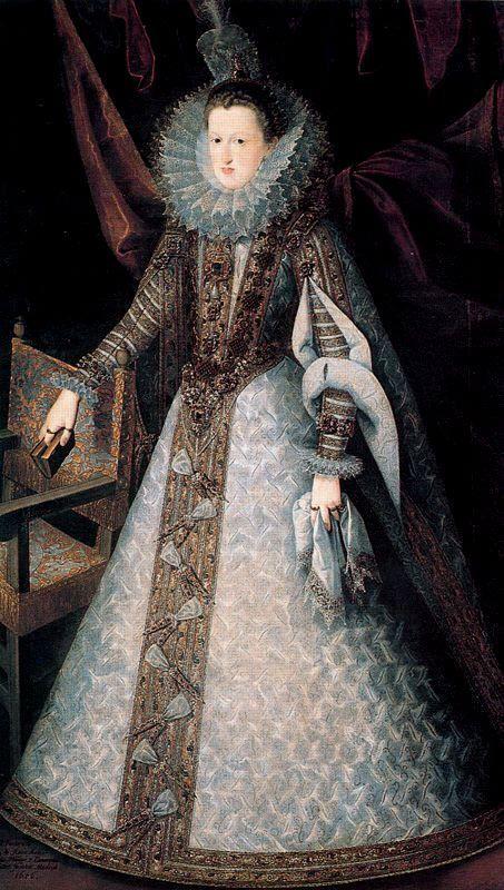 Margarita of Austria (Queen of Spain).  Juan Pantoja de la Cruz.  Museo del Prado.