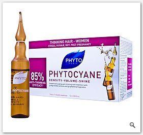 PHYTO PHYTOCYANE Serum w ampułkach na reakcyjne łysienie u kobiet - wypadanie włosów