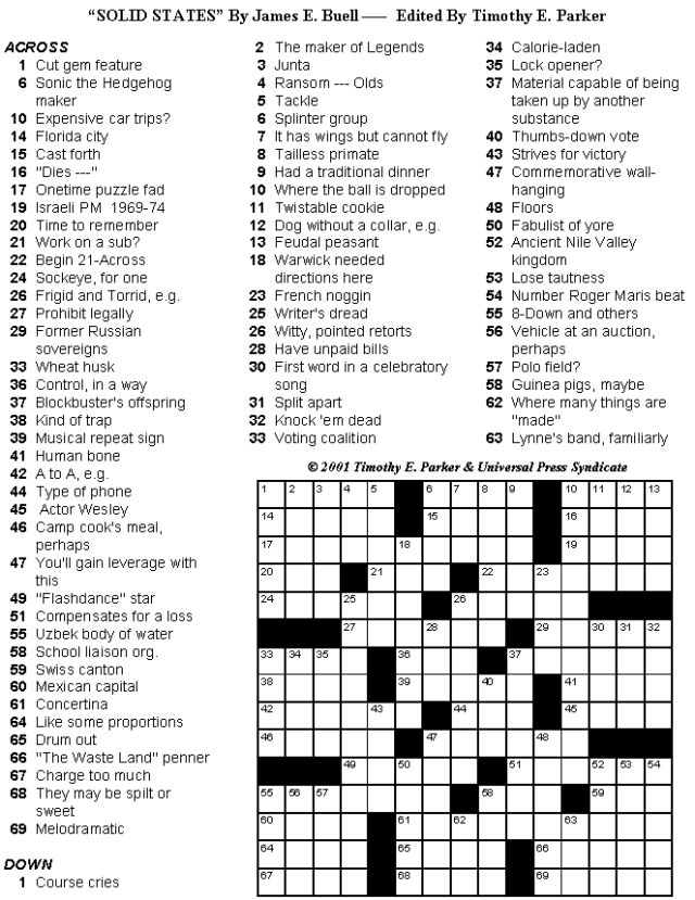 Crossword Puzzles to Print and Solve - Volume 25: Print-friendly Crossword Puzzles - Volume 25 - Page 4