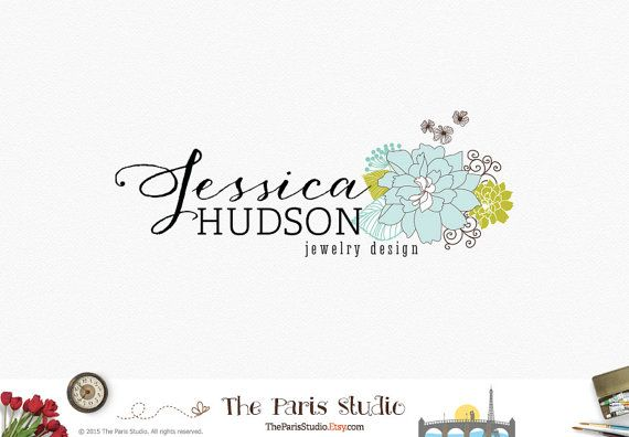 Custom Floral Logo Design Pay As You Go Logo by TheParisStudio