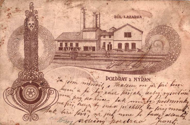 1898, Důl Lazarus, Nýřany. Zdroj: nyrany.cz