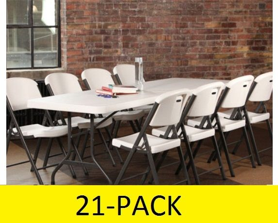 The 2980 Features A 96 Inch Long 30 Wide High Density Polyethylene HPDE Plastic Table Top And Powder Coated Steel Folding
