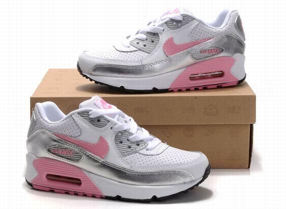 nike air max 90 femme blanc pink silver