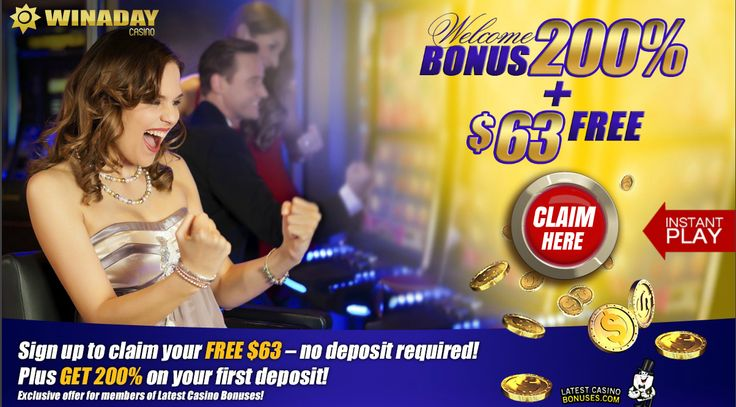 $63! No deposit bonus at WINADAY! (US OK) http://www.latestcasinobonuses.com/onlinecasinobonusforum/exclusive-no-deposit-casino-bonuses/win-a-day-casino-$63-no-deposit-bonus-us-ok!/ ◄◄◄