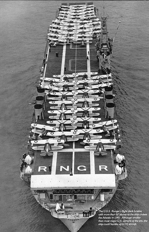 First                                                          aircraft                                                          carrier .. USS                                                          Ranger: