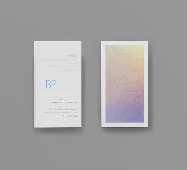 Borealica brand identity and holographic foil print proposal designed by Anagrama.