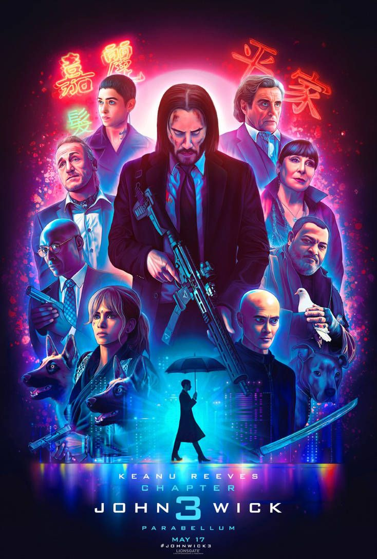 Official John Wick 3 Illustrated Poster By Nickybarkla John Wick